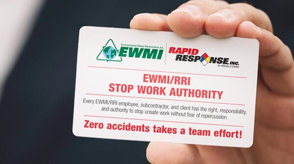 EWMI Work Stop Authority card